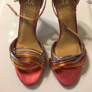 New York & Company Metallic Heels